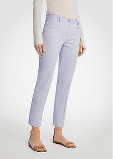 Ann Taylor The Curvy Crop Pant in Railroad Stripe