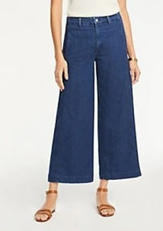 Ann Taylor The Denim Marina Pant In Refined Mid Indigo Wash