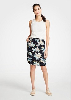 Ann Taylor The Drawstring Skirt in Chinoiserie Tropics