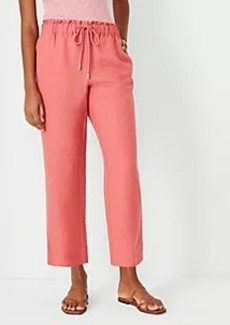 Ann Taylor The Easy Straight Ankle Pant in Linen Blend