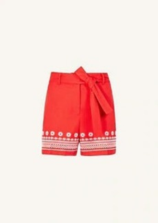 Ann Taylor The Embroidered Belted Short