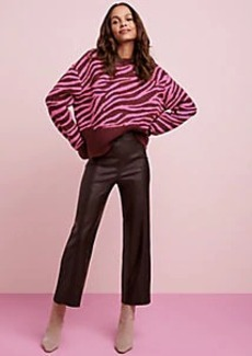 Ann Taylor The Faux Leather Easy Straight Crop Pant