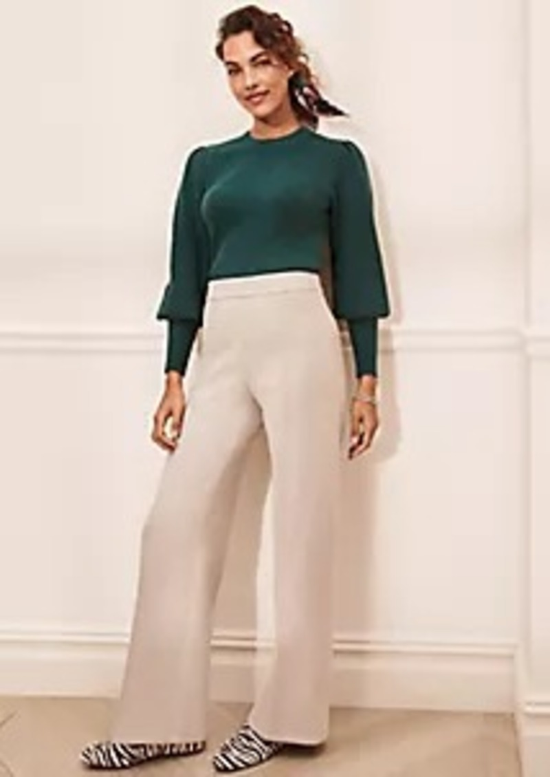 Ann Taylor The Faux Suede Side Zip Straight Pant