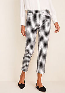 Ann Taylor The Gingham Cotton Crop Pant - Curvy Fit