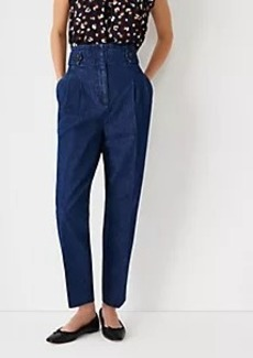 Ann Taylor The Onseam Pocket High Rise Paperbag Ankle Jean