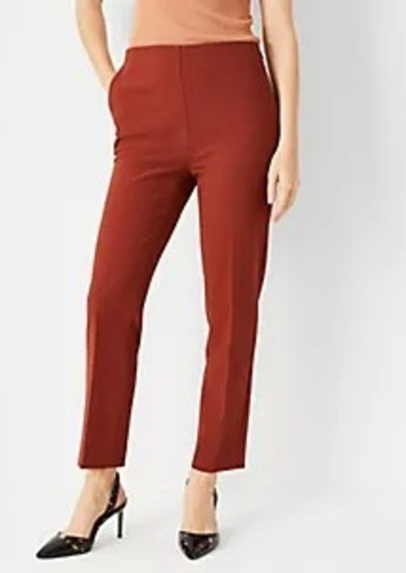 Ann Taylor The High Rise Side Zip Ankle Pant in Bi-Stretch - Curvy Fit