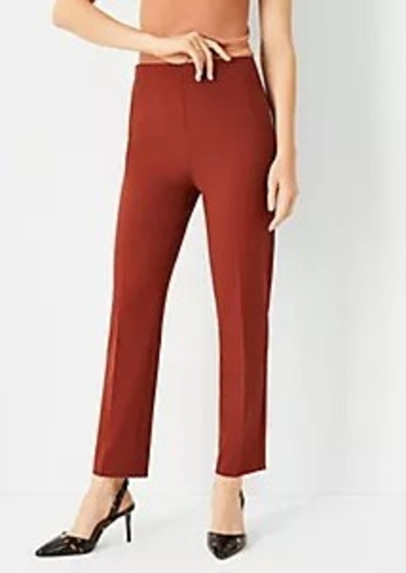 Ann Taylor The High Rise Side Zip Ankle Pant in Bi-Stretch
