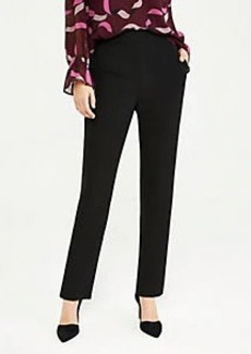 Ann Taylor The High Rise Straight Pant in Doubleweave