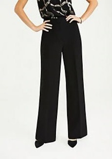 Ann Taylor The High Rise Wide Leg Pant in Doubleweave
