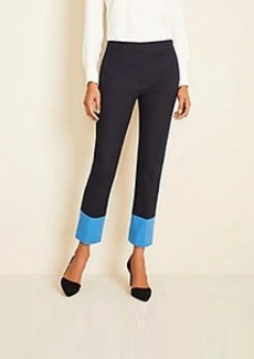 Ann Taylor The High Waist Ankle Pant In Colorblock