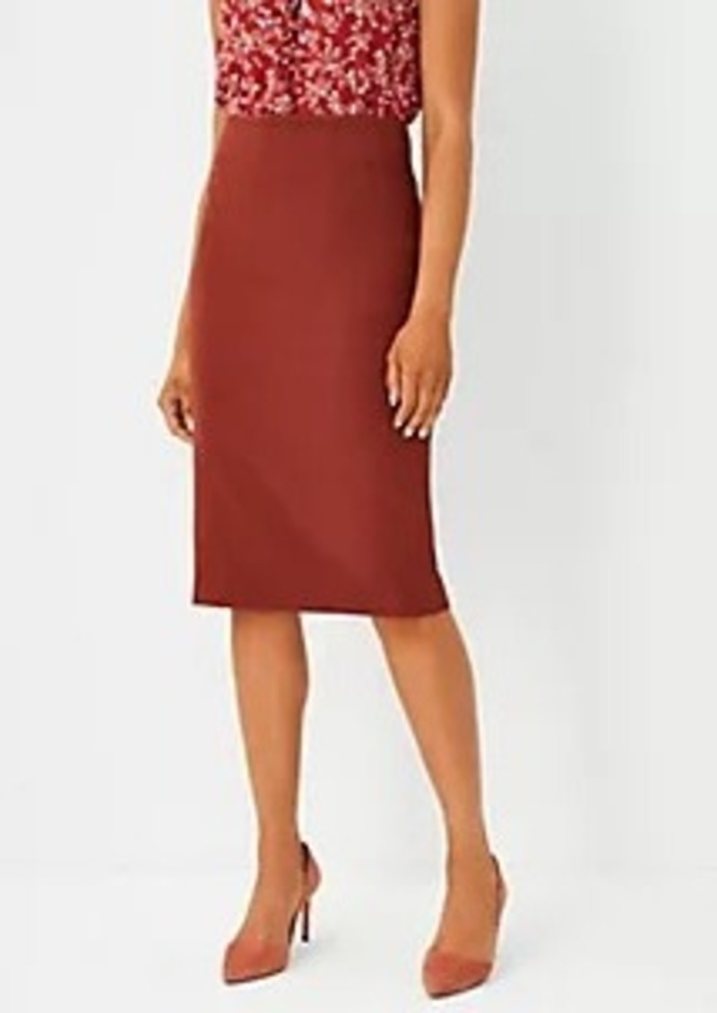 Ann Taylor The High Waist Seamed Pencil Skirt in Bi-Stretch