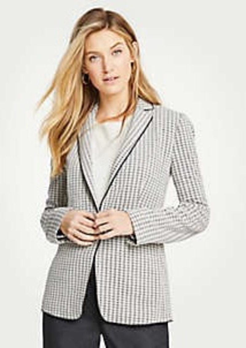 Ann Taylor The Houndstooth Knit Blazer