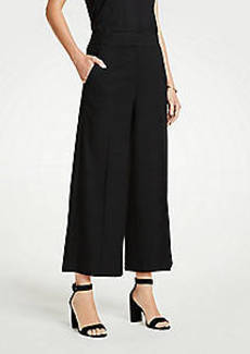 Ann Taylor The Houndstooth Wide Leg Marina Pant