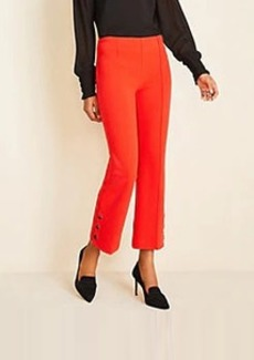 Ann Taylor The Button Trim Kick Crop Pant