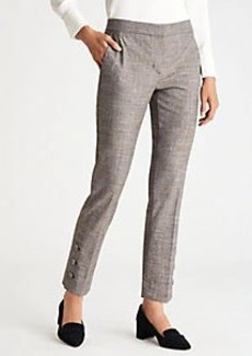 Ann Taylor The Mid Rise Ankle Pant with Button Detail - Curvy Fit