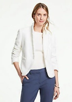Ann Taylor The Newbury Blazer in Fringe Tweed