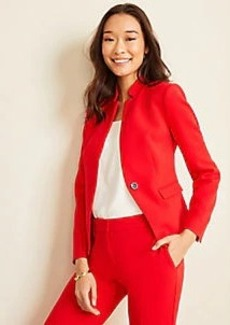 Ann Taylor The Notched Cutaway Blazer in Doubleweave