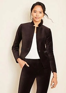 Ann Taylor The Notched Cutaway Blazer in Velvet
