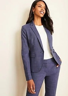 Ann Taylor The One-Button Blazer in Crosshatch