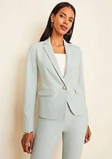 Ann Taylor The One-Button Blazer in End On End