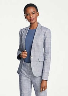 Ann Taylor The One-Button Blazer in Glen Check