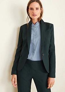 Ann Taylor The One-Button Blazer in Green