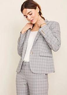 Ann Taylor The One-Button Blazer in Plaid