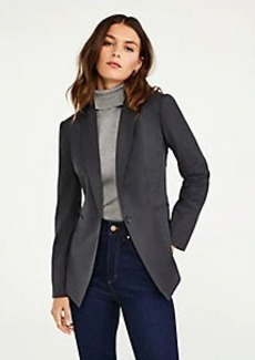 Ann Taylor The One Button Blazer in Tropical Wool
