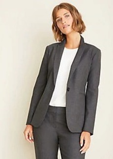 Ann Taylor The One-Button Blazer in Tropical Wool