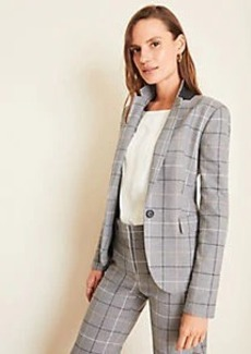 Ann Taylor The One-Button Blazer in Windowpane