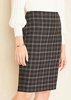 Ann Taylor The Pencil Skirt in Plaid
