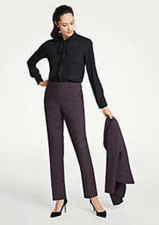 Ann Taylor The Petite Ankle Pant In Birdseye - Curvy Fit
