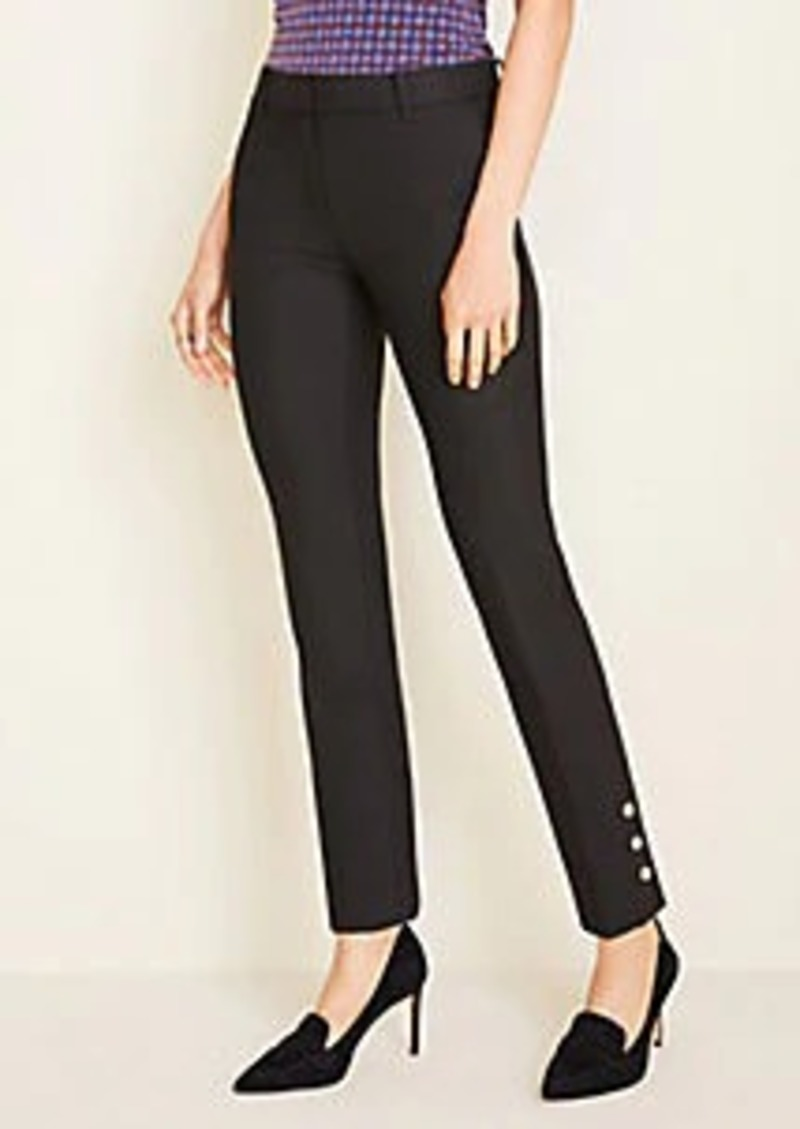 Ann Taylor The Petite Ankle Pant In Button Hem - Curvy Fit