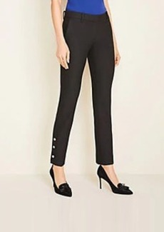 Ann Taylor The Petite Ankle Pant In Button Hem