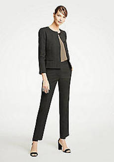 Ann Taylor The Petite Ankle Pant In Dobby - Curvy Fit