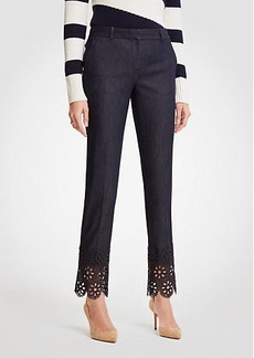 Ann Taylor The Petite Ankle Pant In Eyelet