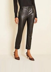 Ann Taylor The Petite Faux Leather Cuffed Ankle Pant