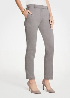 Ann Taylor The Petite Ankle Pant In Herringbone - Curvy Fit