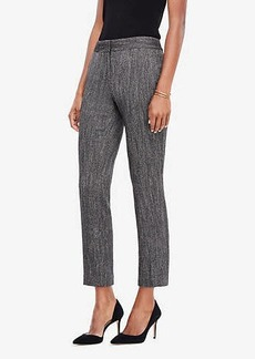 Ann Taylor The Petite Ankle Pant In Herringbone - Kate Fit
