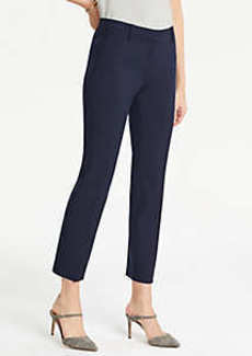 Ann Taylor The Petite Ankle Pant In Pindot - Curvy Fit