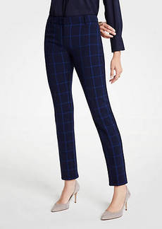 Ann Taylor The Petite Ankle Pant In Plaid - Curvy Fit