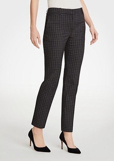 Ann Taylor The Petite Ankle Pant In Sketched Plaid - Curvy Fit