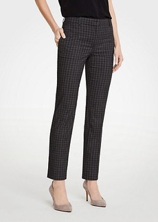 Ann Taylor The Petite Ankle Pant In Sketched Plaid