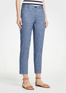 Ann Taylor The Petite Crop Pant In Chambray