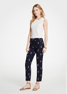 Ann Taylor The Petite Crop Pant In Pineapple - Curvy Fit