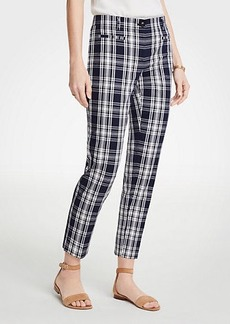 Ann Taylor The Petite Crop Pant In Plaid