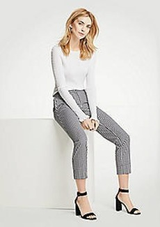 Ann Taylor The Petite Curvy Gingham Ruffle Crop Pant