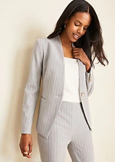Ann Taylor The Petite Cutaway Blazer in Pinstripe Bi-Stretch