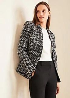 Ann Taylor The Petite Cutaway Blazer in Tweed