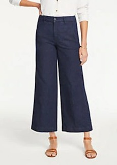 Ann Taylor The Petite Denim Marina Pant In Refined Dark Indigo Wash